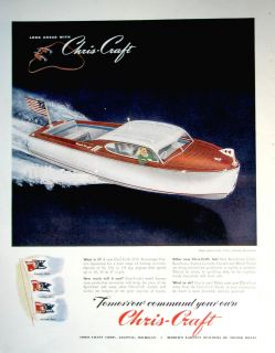 1945 Chris Craft Boat Ad 22ft Custom Sportsman Model