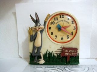 Bugs Bunny Wind Up Talking Alarm Clock from The 70S