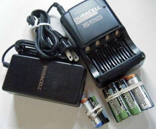 Duracell AA and AAA 15 Minute Battery Charger with 14 batteries