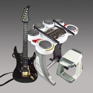 Electronic Toy Drum Set Digital Pad Music Kids Guitar Rock Band