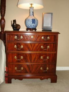 Hickory Chair Solid Mahogany End Table