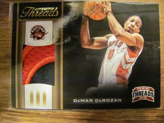 2012 13 Threads DeMar DeRozan Logo Patch /25 Rare SSP HOT Toronto