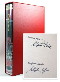 Stephen King Christine Signed Limited First Edition 484 1250 Fine Fine