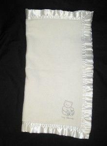 Elegant Baby White Bear Blankie Security Blanket Lovey