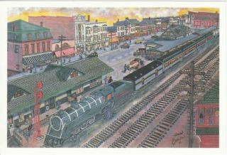 East Stroudsburg Lackawanna Railroad Station Postcard