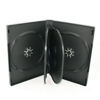 Disc Black DVD Cases with 2 Trays 22mm 6 disc box dvd case dvd cd case