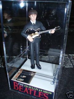 NEW! Ed Sullivan Beatle George in case figure/figurine/doll KISS LED