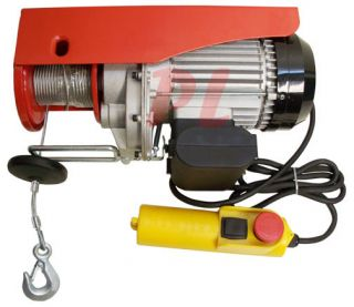 980W Electric Wire Rope Cable Hoist Lift Pulley 450 lb / 900lb