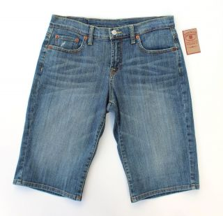 NWT Lucky Brand Jeans Easy Rider Bermuda Shorts Size 6/28 Light Wash