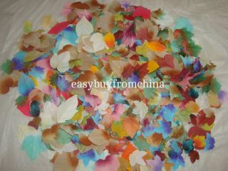 1000 Mixed Autumn Fall Silk Leaves Artifical Foliage Maple Wedding