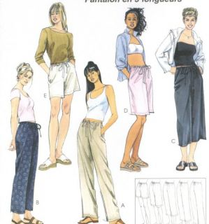 Drawstring Slim Pants Sewing Pattern 5 Lengths Easy Fit McCalls 4063