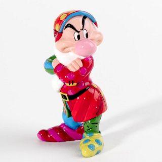 Romero Britto Disney Grumpy Dwarf Snow White Mini Pop Art Figurine