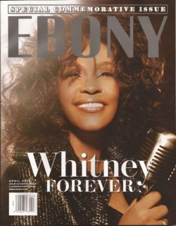 2012 Ebony Magazine Whitney Houston Forever Special Commemorative RARE
