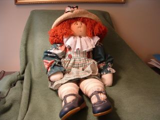 Souls 24 Doll Red Hair w Hat Elizabeth 1990 by Gretchen Wilson