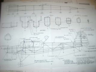 Fieseler 156C Storch RC Electric Model Airplane Plans