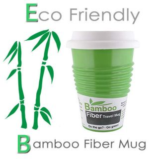 Eco Friendly 100 Biodegradable Green Bamboo Fiber Mug Coffee Tea