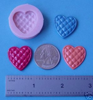 Silicone Heart 7 Polymer Clay Push Mold Candle Soap
