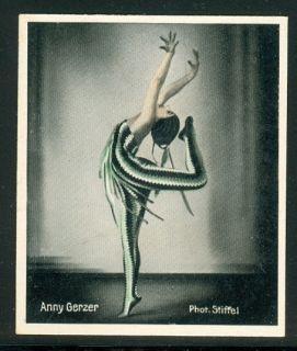 Anny Gerzer Prima Ballerina Munich State Opera Vintage Cigarette Card