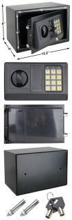 New Black Digital Electronic Safe Box Safety Security Lock Home Office