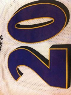 New Ed Reed 20 Baltimore Ravens NFL Stitched Mans Jersey White Size 50