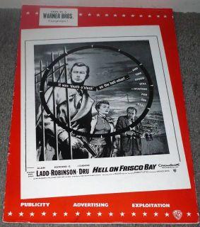 Bay Original Pressbook Alan Ladd Joanne Dru Edward G Robinson
