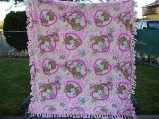 Fancy Nancy Pink Heart Posh Fleece Double Panel Blanket