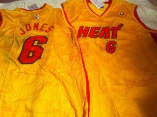 Eddie Jones 6 Miami Heat Yellow Retro Champion Jersey