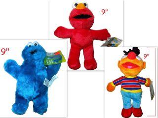 Set Elmo Ernie Cookie Monster Plush Dolls Sesame Street Muppets New w