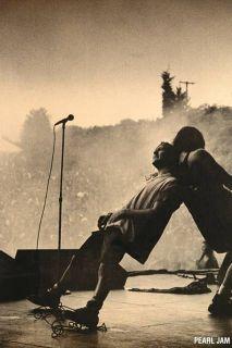 Pearl Jam Eddie Vedder on Stage Poster 24 x 36