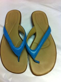 Womens Shoes NEW SZ 10 Leather FLIP FLOP Sandal Montego Bay Club NWOT