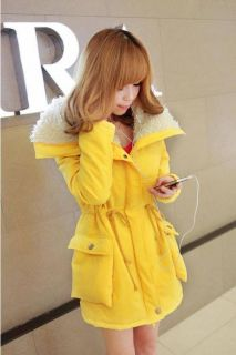 Womens Winter Warm Parka Lady Coat Overcoat Long Jacket Zip Cotton