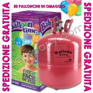 Bombola Gas Elio Gonfiaggio per 50 Palloncini Party Festa