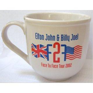 Elton John Billy Joel Face to Face Tour 2002 Coffee Mug