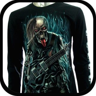 Rock Eagle Long Sleeve LS T Shirt Tattoo G57 Sz XL Biker Vtg Heavy