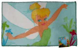 Tinkerbell Disney Fairies Bathroom Childrens Accent Rug Kids Bath Mat