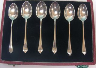 Elizabeth Coronation Sterling Silver Cased 6 Spoons Set Travis Wilson