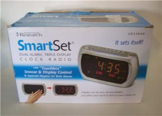 Used Emerson Research SmartSet Dual Alarm Clock Radio cks3020