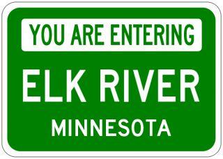Elk River Minnesota You Are Entering Aluminum City Sign