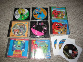 Lot of 11 Childrens Kids Computer Games PC Educational Software