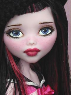 Draculaura Monster High Vampire Custom Repaint by Ellen Harris
