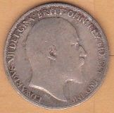 1908 8terling Silver Six Pence Coin Wedding Coin King Edward VII