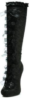 Ellie Shoes Sexy High Stiletto Heel Satin Knee Boot Inner Zipper 423