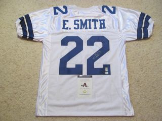 EMMITT SMITH SIGNED DALLAS COWBOYS JERSEY AAA / EMMITT SMITH PERSONAL