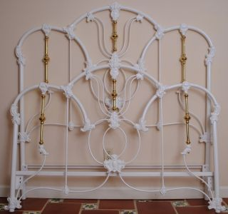 Elliotts Designs Iron and Brass Bed Frame Full Made in USA Antique