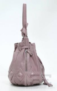 Elliott Lucca Lilac Purple Leather Silver Stud Handbag