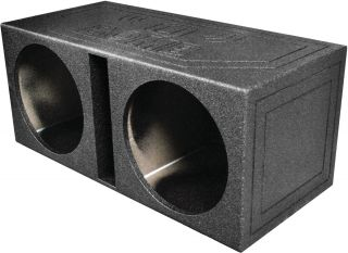 NEW Q POWER QBOMB15V EMPTY SUBWOOFER BOX DUAL 15 SLOT PROTED