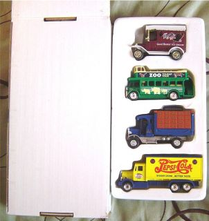 Pepsi Cola Good Humor Ice Cream Zoo Double Decker Diecast Trucks   New