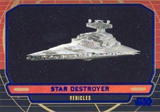 2012 STAR WARS GALACTIC FILES BLUE 269 STAR DESTROYER d 151 350