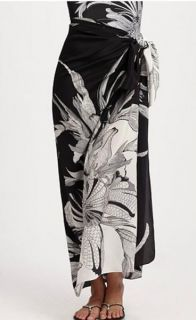 Gottex Elmira Printed Silk Pareo Skirt Swimsuit Cover Up Wrap OS NWT $