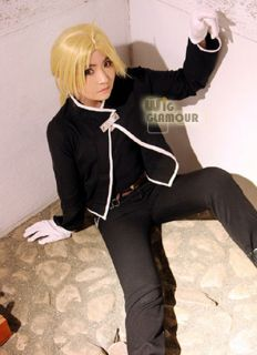 Fullmetal Alchemist Edward Elric Long Blonde Cosplay Hair Wig